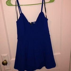 Royal Blue zip up romper